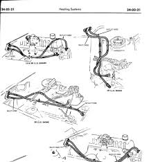 does the picture look correct heater hose routing tube connector 24 from the ford 1970 car shop manual pg 34 03 21 which shows the heater hose routing for the 302 c i d engine