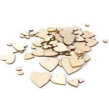 details about 100x wooden hearts shapes 2cm 4cm embellishments small hanging heart plain craft