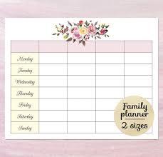 Blank Schedule Printable Blank Calendar Planner Blank Weekly Schedule Template Weekly Family Planner Calendar Download Pdf Funny Family Calendar Template