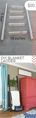 Turn scrape wood into a DIY blanket ladder. Storage | DIY | farmhouse style  |