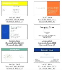 Word Business Card Template Free Office And Format Templates