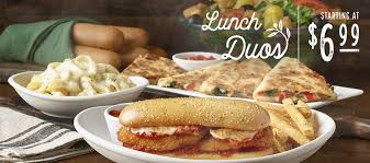 the meatball pizza bowl is now part of lunch duos at olive garden explore all