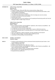 Cad Drafter Resume Example Structural Drafter Resume Samples Velvet Jobs 24