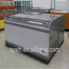 china luckdr island freezer glass door showcase deep freezer chest freezer no