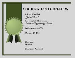 Printable Certificates Of Completion Unique Of Blank Certificate Completion Templates Free Sample 7