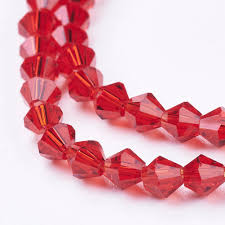 Bicone Bead Size Chart Details About 118pcs Strand Imitation 5301 Bicone Beads Faceted Bicone Glass Beads Red
