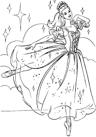 Small Picture Printable Barbie Princess Coloring Pages Coloring Me