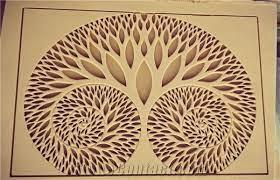 teak wood sandstone cnc carved wall
