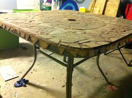 tile patio table top replacement amazing innovative glass ideas decorating 3