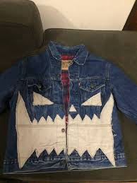 Asspizza Designs Asspizza Asspizza Flannel Lined Denim Jacket Size L Denim