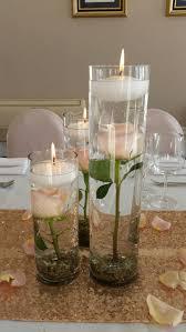 Submerged flowers in cylinder vases  Fish CenterpieceCylinder CenterpiecesCandle  ...
