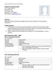 Sample Resume For Fresh Graduate Civil Engineering Svoboda2 Com