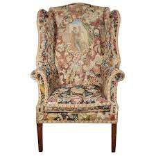 george iii needlework upholstered wingback armchair for