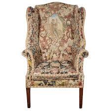 george iii needlework upholstered wingback armchair