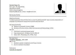 Unique Design Simple Resume Format Sample Sample Of A Simple Resume
