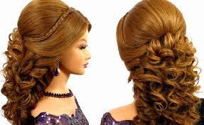 Elegant Prom Hair Style romantic bridal prom hairstyle for long hair tutorial youtube 4174 by wearticles.com