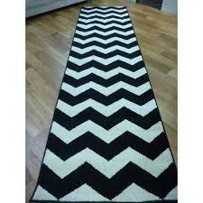 modern hall runner rugs arena black white chevron 459574