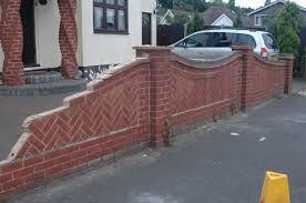 Small Picture Front Garden Brick Wall Designs Image On Brilliant Home Design