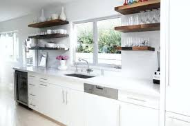 medium size of white kitchen with wood floating shelves glossy tiles lights s kitchen floating kitchen