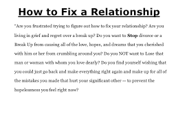 Getting Back Together Quotes Mesmerizing How To Fix A Relationship While Getting Back Together