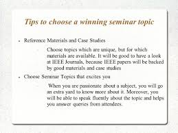 seminar topics ppt for engineering mca ppt video online  tips to choose a winning seminar topic
