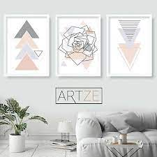 grey wall art prints rose poster large