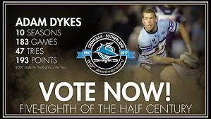 Team of the Half Century: Adam Dykes - Sharks