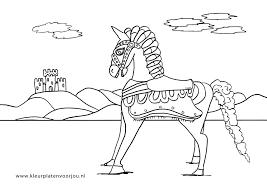 Paard Met Kasteel Kleurplaat Kleurplaten Voor Jou