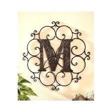 initial letter wall decor metal letters new art decorative medallion galvanized u initia