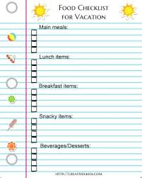 Ready For Vacation? Printable Checklists! | Creative K Kids
