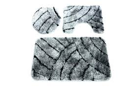black bath rug 3 piece set mat toilet seat white chevron black bath rug