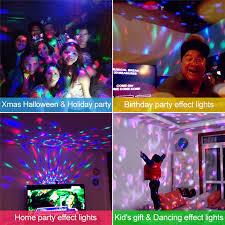 halloween party lighting. ZjRight IR Remote Crystal Rotating Ball LED RGB Stage Lighting KTV Bar Kids Dancing Birthday Holiday Xmas Halloween Party Lights