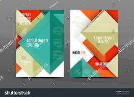 Annual Report Cover Template Squares Triangles Annual Report Cover Template Stock Vector 11