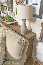 Diy Sofaable Behind Couch With Plugin Plans Simple Storageables Plan