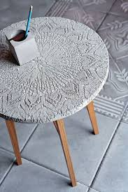 image of diy concrete table circle