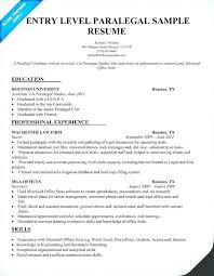 Paralegal Resume Classy Examples Of Legal Assistant Resumes Sample Paralegal Resume With No