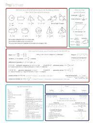 Math Formula Chart For Geometry Gmat Math Formula Sheet Pdf Kookenzo Com