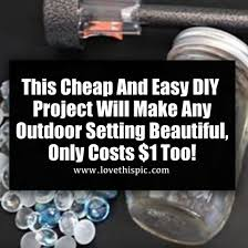 this and easy diy project will make any outdoor setting beautiful only costs 1 too