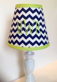 monogrammed lamp shades monogrammed lamp shade in navy blue chevron with lime green accent monogrammed lamp monogrammed lamp shades