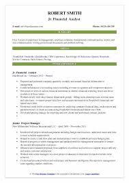 Senior Financial Analyst Resume Sample Senior Financial Analyst Resume Summary Skills Sample Professional