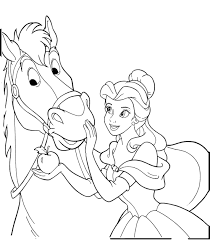Princess And Horse Coloring Pages - Bltidm