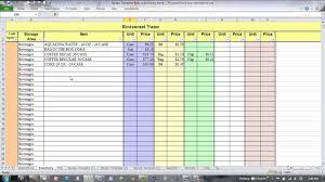 Food Recipe Template Spreadsheet Menu Amp Recipe Cost Template Restaurant Food For Sheet