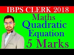 maths quadratic equation questions for