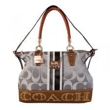 Coach Braided In Signature Large Grey Totes BFS