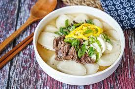 Tteokguk (Korean Rice Cake Soup) - Tara's Multicultural Table