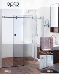 trending frameless sliding shower