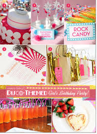 Fun ideas for a disco themed pre-teen birthday that includes a glitzy disco  cake