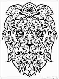 Small Picture Print Adult Lion Zen coloring pages Free Adults Coloring Pages