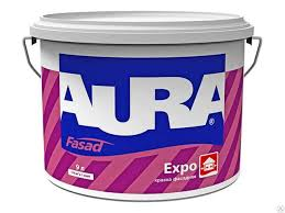 <b>Краска в/д фасадная</b> матовая ESKARO <b>AURA</b> EXPO 9 л купить в ...