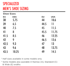 Specialized Cycle Clothing Size Chart Specialized Defroster Trail Shoes 2020